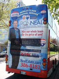Ron Neal's bus ad